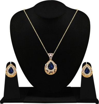 Fabfashion Alloy Jewel Set(Blue) at flipkart
