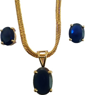 Weldecor Alloy Jewel Set(Gold, Blue) at flipkart