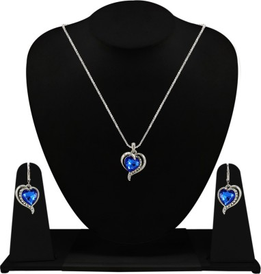 Silverstoli Alloy Jewel Set(White, Blue) at flipkart