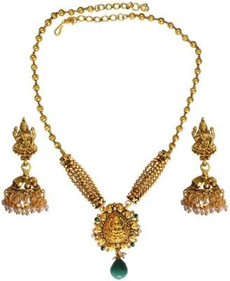 Being Women Copper Jewel Set(Gold) at flipkart