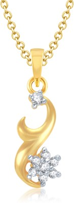 VK Jewels Hook lock with star Gold and Rhodium Plated Yellow Gold Alloy Pendant at flipkart