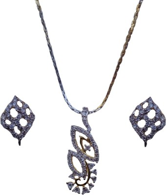 Kundaan Alloy Jewel Set(Silver) at flipkart
