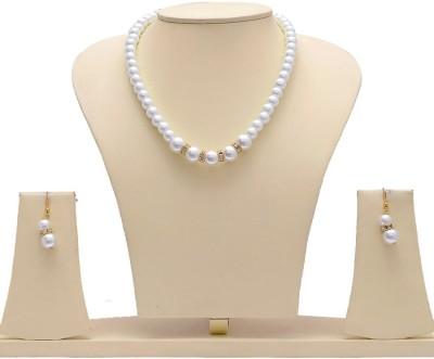 Jewels Guru Alloy Jewel Set(White, Gold) at flipkart