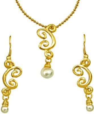 Surat Diamond Metal Jewel Set(White, Gold) at flipkart