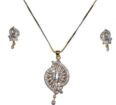Jewels Kafe Alloy Jewel Set(Silver) at flipkart