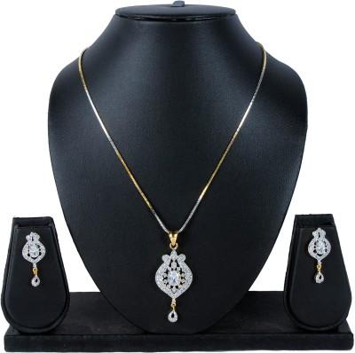 Luxor Brass Jewel Set(Gold) at flipkart