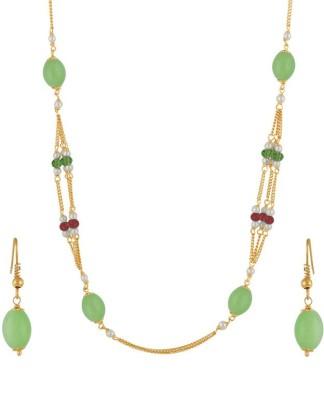 Classique Designer Jewellery Alloy Jewel Set(Green) at flipkart