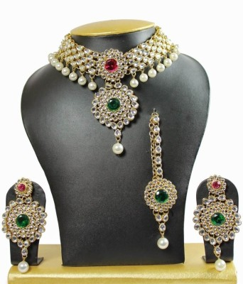 Sewad Alloy Jewel Set(White) at flipkart