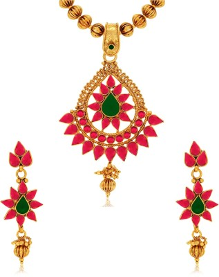Spargz Brass Jewel Set(Multicolor) at flipkart