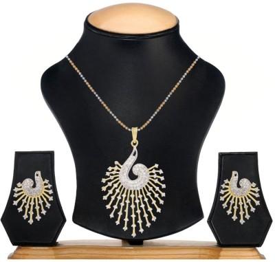 Jewels Guru Brass Jewel Set(White, Silver) at flipkart