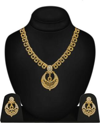Styylo Fashion Alloy Jewel Set(Gold, White) at flipkart