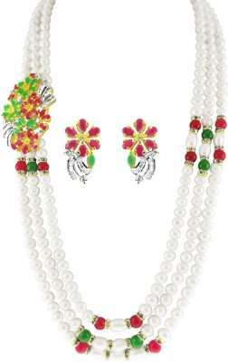 JPearls Alloy Jewel Set(Gold) at flipkart