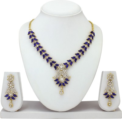 Atasi International Alloy Jewel Set(Blue) at flipkart