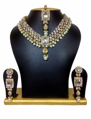 Sewad Alloy Jewel Set(Gold, White) at flipkart