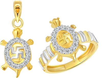 Vighnaharta Alloy Jewel Set(Gold) at flipkart