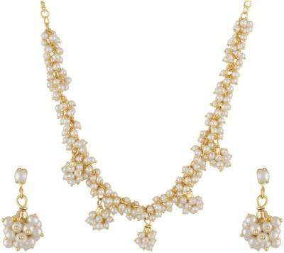Classique Designer Jewellery Alloy Jewel Set(White) at flipkart