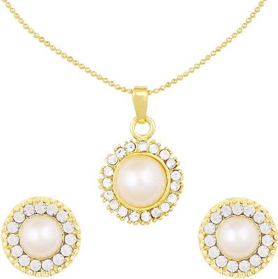 Shining Jewel Brass Jewel Set(White)