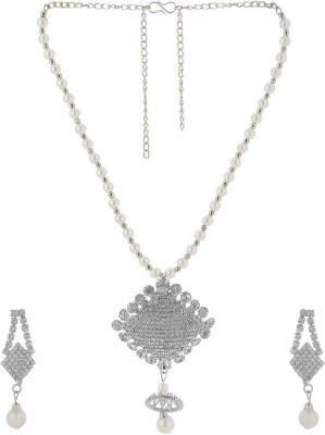 Nakabh Beautiful Star Rhodium Alloy Pendant