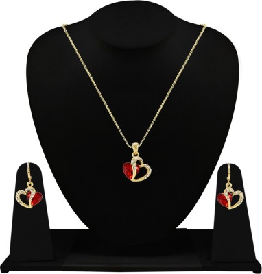 Silverstoli Alloy Jewel Set(Yellow, Red) at flipkart