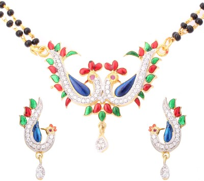 Fashion Frill Alloy Jewel Set(Multicolor) at flipkart