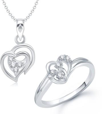 VK Jewels Alloy Jewel Set(Silver)