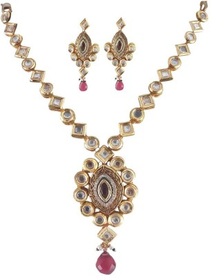 Rejewel Alloy Jewel Set(Red) at flipkart