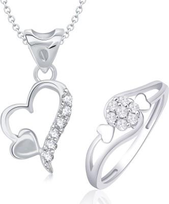 VK Jewels Alloy Jewel Set(Silver) at flipkart