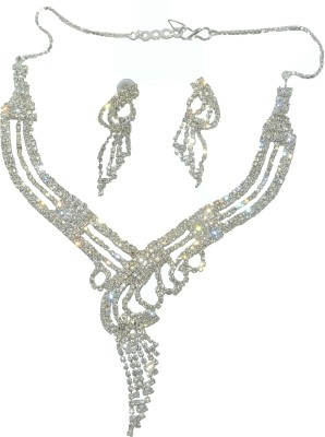 Shop4everything Alloy Jewel Set Silver Shop4everything Jewellery Sets