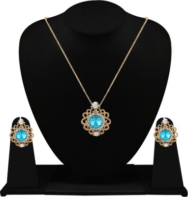 Silverstoli Alloy Jewel Set(Yellow) at flipkart