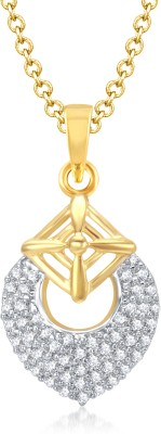 VK Jewels Blossom Cherry Gold and Rhodium Plated Gold-plated Alloy Pendant