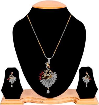 Alysa Brass, Copper Jewel Set(Gold, Silver) at flipkart