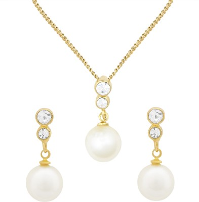 Shining Jewel Brass Jewel Set(White)