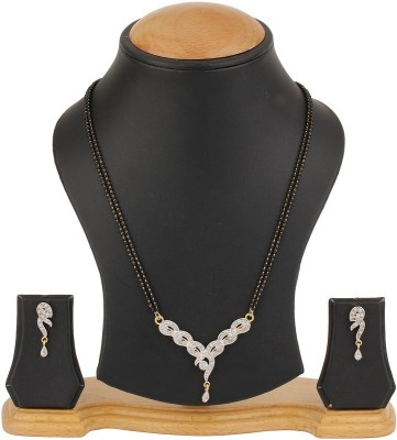 You Bella Alloy Jewel Set(White) at flipkart
