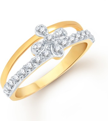 VK Jewels Alloy Yellow Gold Plated Ring at flipkart