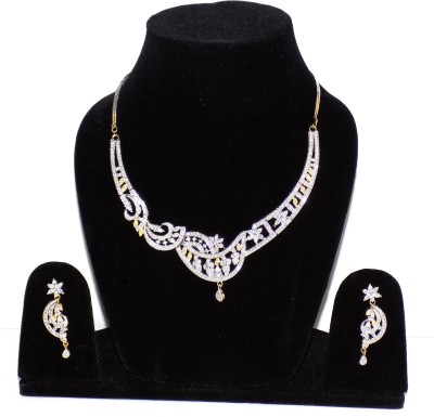 Jewels Kafe Alloy Jewel Set(Silver) at flipkart