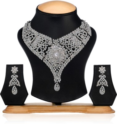 Zaveri Pearls Alloy Jewel Set(Silver) at flipkart