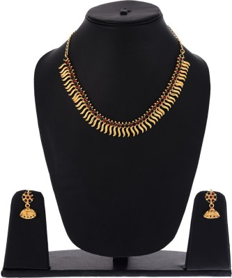 Zeneme Alloy Jewel Set(Gold) at flipkart