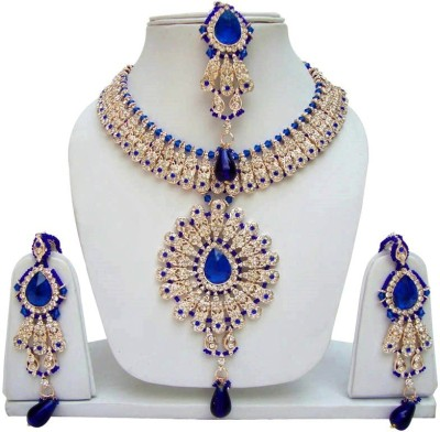Jewels Guru Alloy Jewel Set(Blue) at flipkart