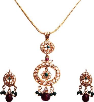 Kundaan Alloy, Copper Jewel Set(Multicolor) at flipkart