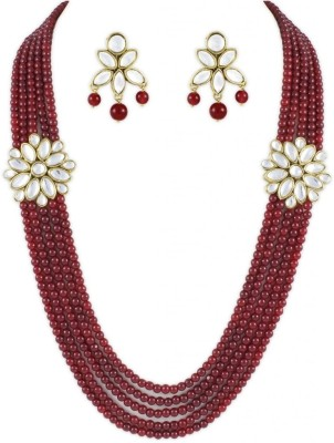 Karatcart Alloy Jewel Set(Red) at flipkart