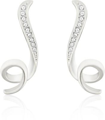 Mahi White Shinning Loop Crystal Brass, Alloy Stud Earring at flipkart