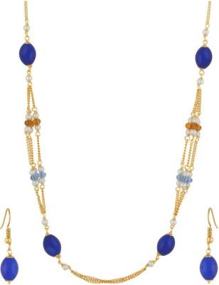 Classique Designer Jewellery Alloy Jewel Set(Blue) at flipkart