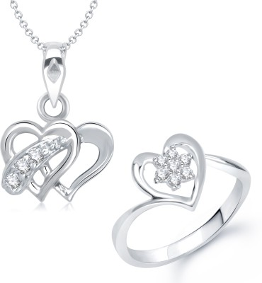 VK Jewels Alloy Jewel Set(Silver)
