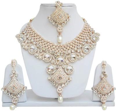 Jewels Guru Alloy Jewel Set(White) at flipkart