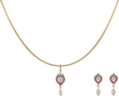 Classique Designer Jewellery Alloy Jewel Set(Gold) at flipkart