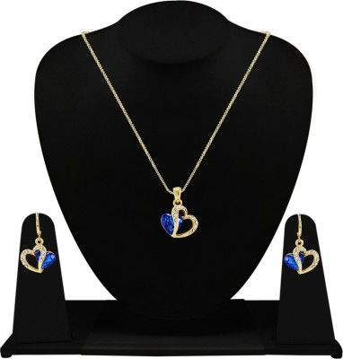 Fabfashion Alloy Jewel Set(Yellow, Silver) at flipkart