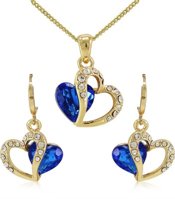 Silverstoli Alloy Jewel Set(Yellow, Blue) at flipkart