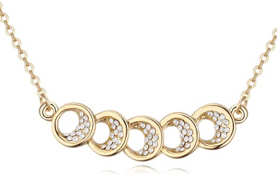 Atasi International Crystal 18K Yellow Gold Plated Metal Necklace  available at flipkart for Rs.249