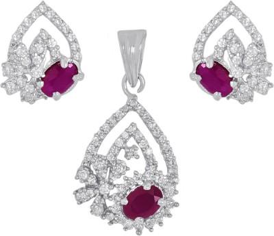 Orolush Brass Jewel Set(Silver) at flipkart