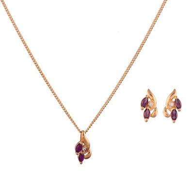 Shining Jewel Brass Jewel Set(Silver)